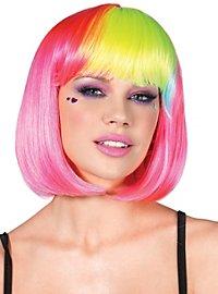 Rainbow Bob Wig pink