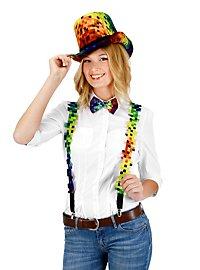 Rainbow Pixel Hat