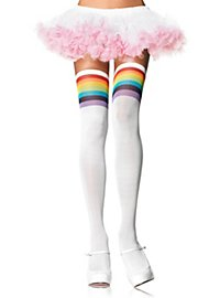 Rainbow Striped Stay up Stockings