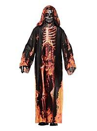 Realistic Burning Skeleton Kids Costume