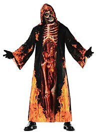 Realistic Burning Skeleton One-Piece Costume