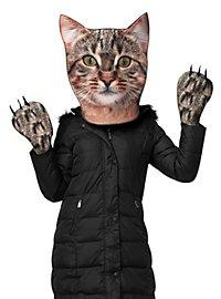 Realistische Katze Accessoire Set