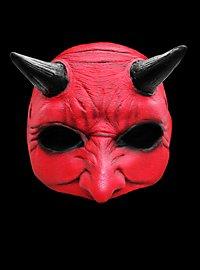 Red Devil Halbmaske aus Latex