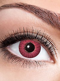 Red iris contact lens with diopters