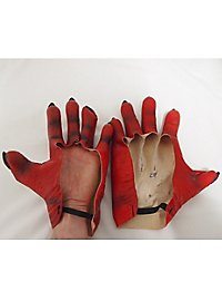 Red Monster Hands made of latex