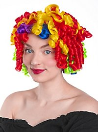 Regenbogen Clown Perücke