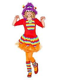 Regenbogen Grummel-Monster Kostüm für Kinder