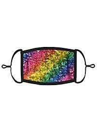 Regenbogen Pailletten Mund-Nasen-Maske für Kinder