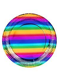 Regenbogen Pappteller 6 Stück