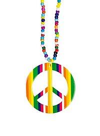 Regenbogen Peace Kette