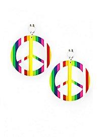 Regenbogen Peace Ohrringe
