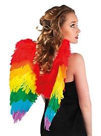 Regenbogenfarbene Flügel