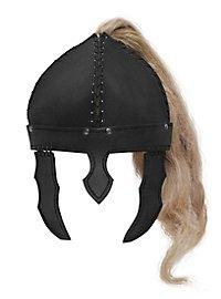 Reiterhelm aus Leder schwarz
