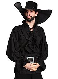 Renaissance Frill Shirt black