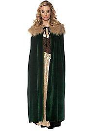 Renaissance ladies cape dark green