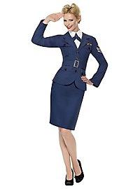 Retro Air Force Pilotin Kostüm