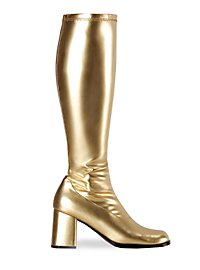 Retro Boots Synthetic Leather gold