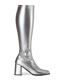 Retro Boots Synthetic Leather silver