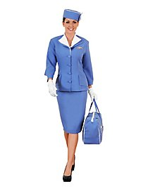 Retro Stewardess Deluxe Kostüm