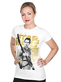 Star Wars - Girlie Shirt Rey Gold Logo