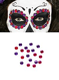 Rhinestones to stick on purple-pink