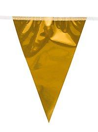 Riesenwimpelkette 10 Meter gold metallic