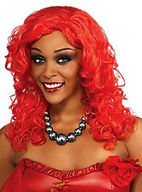 Rihanna Red Curls Wig