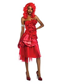 Rihanna Rosette Dress red Costume, incl. Wig