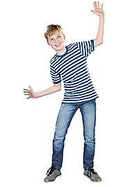 Ringelshirt für Kinder halbarm blau-weiß