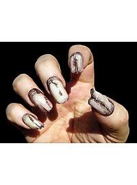 Rissige Zombie Fingernägel Deluxe