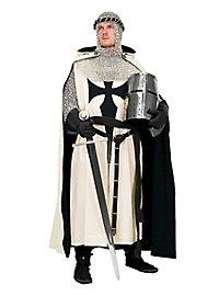 Ritterlicher Reiterumhang weiß-schwarz