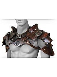 Robber Shoulder Guards Deluxe brown