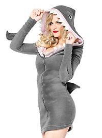 Robe à capuche requin mignon