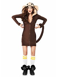 Robe à capuche singe coquet
