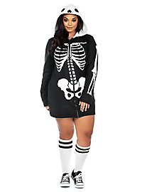 Robe à capuche squelette XXL