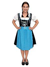Robe bavaroise avec tablier bleu