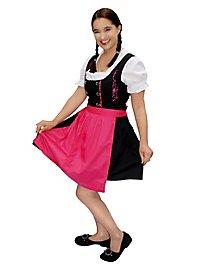 Robe bavaroise avec tablier rose