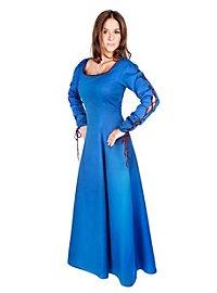 Robe bleue à laçages