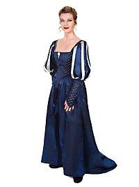 Robe de mousquetaire bleue pour femme
