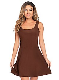 Robe patineuse marron