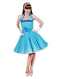 Robe rockabilly turquoise et blanc