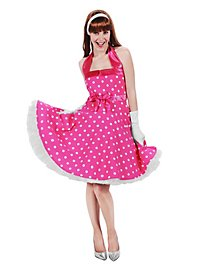 Rockabilly Kleid pink-weiß
