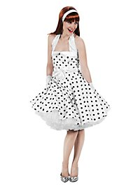Rockabilly Kleid weiß-schwarz