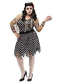 Rockabilly Zombie Girl Costume