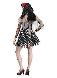 Rockabilly Zombie Girl Kostüm