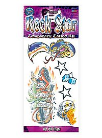 Rocker Klebe-Tattoo Set