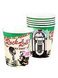 Rock'n'Roll Pappbecher 6 Stück