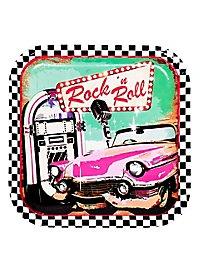 Rock'n'Roll Pappteller 6 Stück