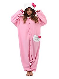 Rosa Hello Kitty Kigurumi Kostüm