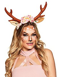 Rosy reindeer hairband